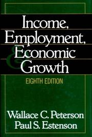 Cover of: Income, employment, and economic growth