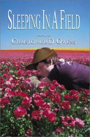 Cover of: Sleeping in a Field
