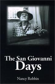 Cover of: The San Giovanni Days | Nancy Robbin
