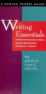 Cover of: Writing essentials | Dawn Rodrigues