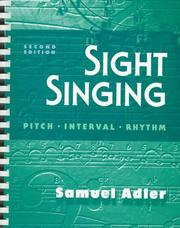 Cover of: Sight singing
