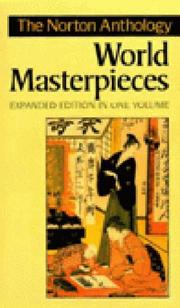 Cover of: The Norton Anthology of World Masterpieces, One Volume, Expanded Edition | Maynard Mack