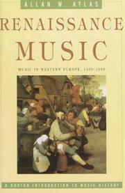 Cover of: Renaissance music