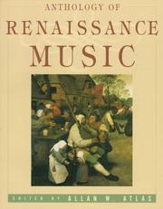 Cover of: Anthology of Renaissance Music