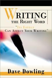 Cover of: Writing the Right Word