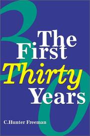 Cover of: The First Thirty Years