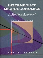 Cover of: Intermediate Microeconomics | Hal R. Varian