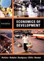 Cover of: Economics of Development, Fifth Edition | Malcolm Gillis