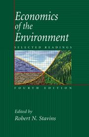 Cover of: Economics of the Environment | Robert N. Stavins