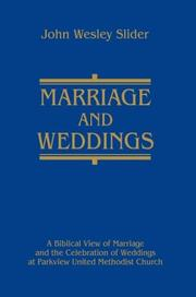 Cover of: Marriage and Weddings