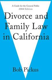 Cover of: Divorce and Family Law in California