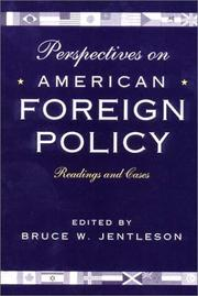 Cover of: Perspectives on American Foreign Policy