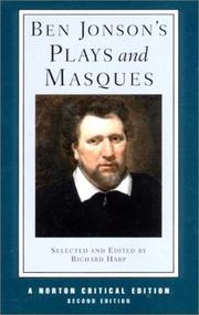 Cover of: Ben Jonson's plays and masques