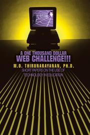 Cover of: A One Thousand Dollar Web Challenge!!! | M. O. Thirunarayanan