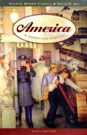 Cover of: America: A Narrative History