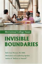 Cover of: Invisible Boundaries | Beth Ann Wenner