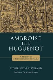 Cover of: Ambroise the Huguenot | Esther Secor Cleveland