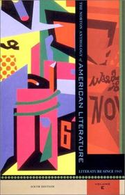 Cover of: The Norton Anthology of American Literature, Sixth Edition, Volume E