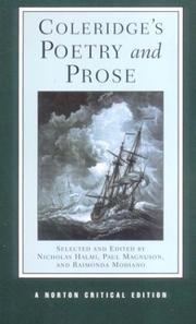 Cover of: Coleridge's poetry and prose: authoritative texts, criticism