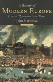 A history of modern Europe by John M. Merriman