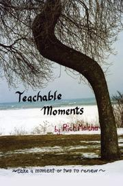 Cover of: Teachable Moments | Rich Melcher