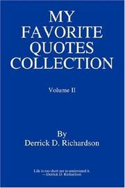 Cover of: My Favorite Quotes Collection