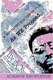Cover of: As WE Proceed | Kommon Knowledge