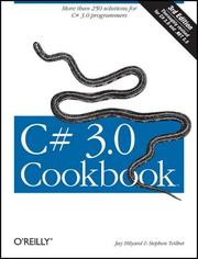 Cover of: C# 3.0 Cookbook | Jay Hilyard