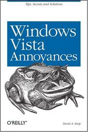 Cover of: Windows Vista Annoyances by David A. Karp