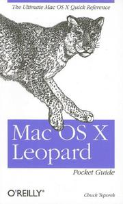Cover of: Mac OS X Leopard Pocket Guide by Chuck Toporek