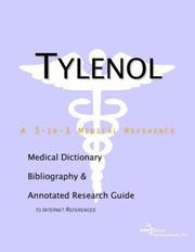 Cover of: Tylenol: A Medical Dictionary, Bibliography, And Annotated Research Guide To Internet References