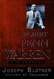 Cover of: Robert Penn Warren
