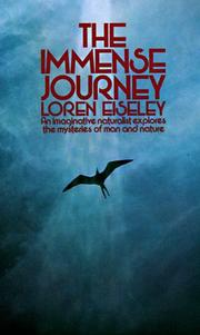 Cover of: The immense journey