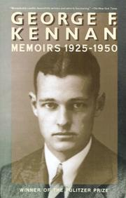Cover of: Memoirs | George Frost Kennan