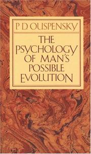 Cover of: The psychology of man's possible evolution
