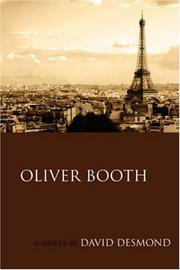 Cover of: Oliver Booth | David Desmond