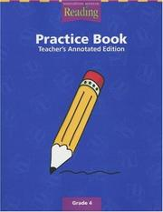 Cover of: A Legacy of Reading Practice Book Teacher Annotated Edition Level 4 | Unknown