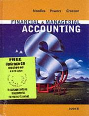 Financial And Managerial Accounting With Student Cd 6th Edition by Belverd E. Needles, Marian Powers, Susan V. Crosson