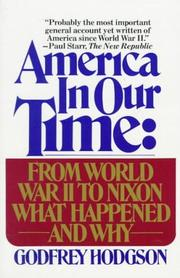 Cover of: America in our time