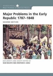 Cover of: Major Problems in the Early Republic Second Edition (Major Problems in American History)