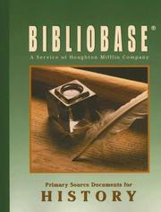 Cover of: Bibliobase #207 |