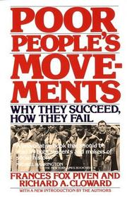 Cover of: Poor people's movements | Frances Fox Piven