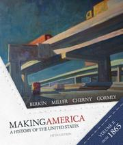 Cover of: Berkin Making America Volume Two Fifth Edition