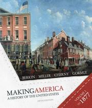 Cover of: Berkin Making America Volume One Fifth Edition