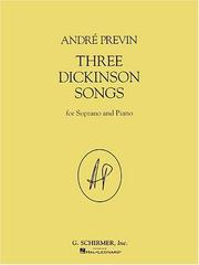 Cover of: Three Dickinson Songs