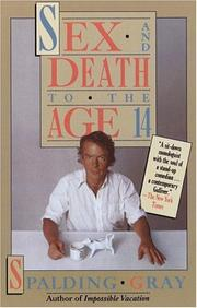 Cover of: Sex and death to the age 14
