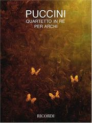 Cover of: String Quartet in D | Giacomo Puccini