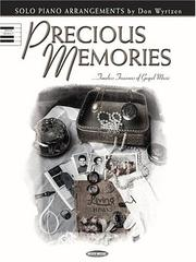 Cover of: Precious Memories