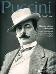 Cover of: Puccini for Easy Piano: 25 Soaring Selections from 8 Operas