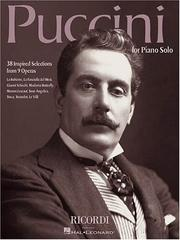 Cover of: Puccini for Piano Solo: 38 Inspired Selections from 9 Operas